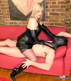 Blonde mistress torture femdom slave
