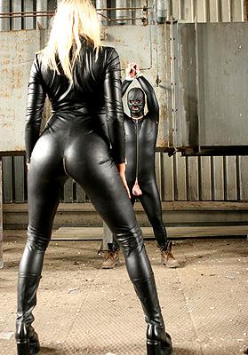 Rubber mistress femdom torture